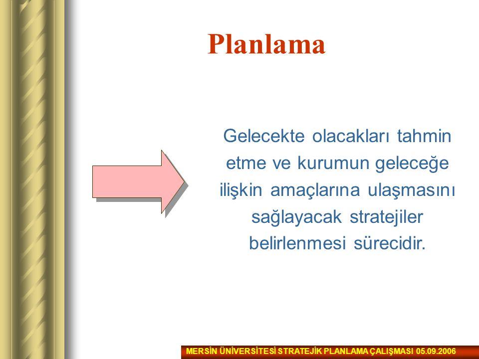 Planlama Sürecinin Organizasyonu Planlamaya dahil olması gereken birim, kişi veya gruplar:  Koordinatör birim.