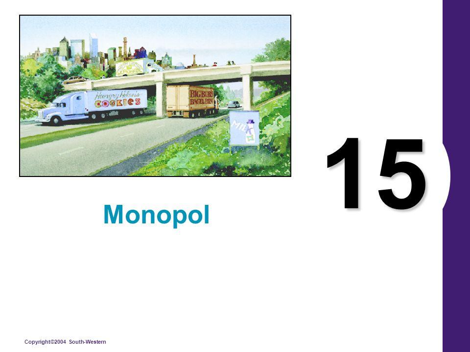 Copyright © 2004 South-Western MONOPOLLERLE İLGİLİ KAMU POLİTİKASI Hükümet monopol sorunu konusunda şu dört yoldan birini izleyebilir.