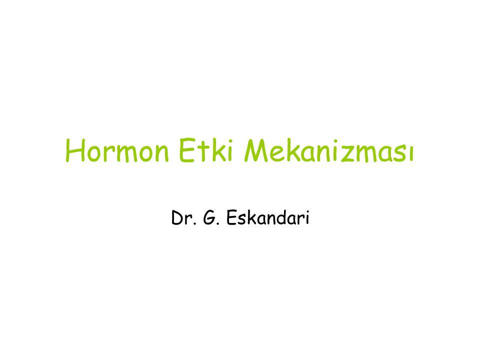 Hormon Etki Mekanizması Dr. G. Eskandari