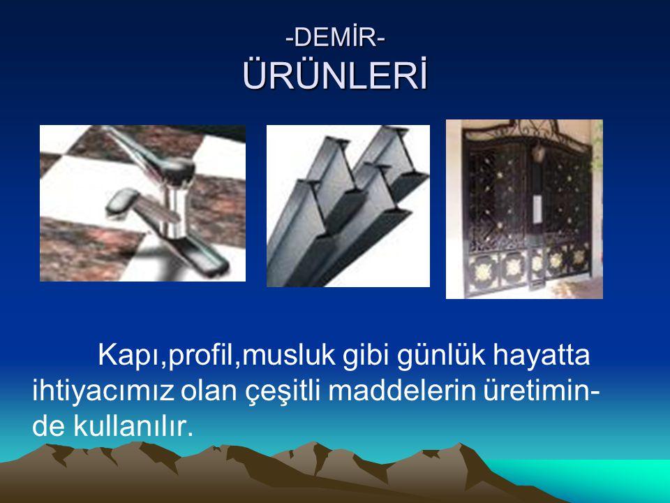 -KÜKÜRT- ÜRÜNLERİ Kükürt enerji üretiminde önemli bir yere sahiptir.