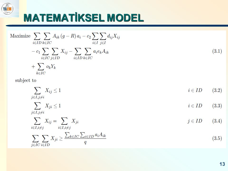 MATEMATİKSEL MODEL 13