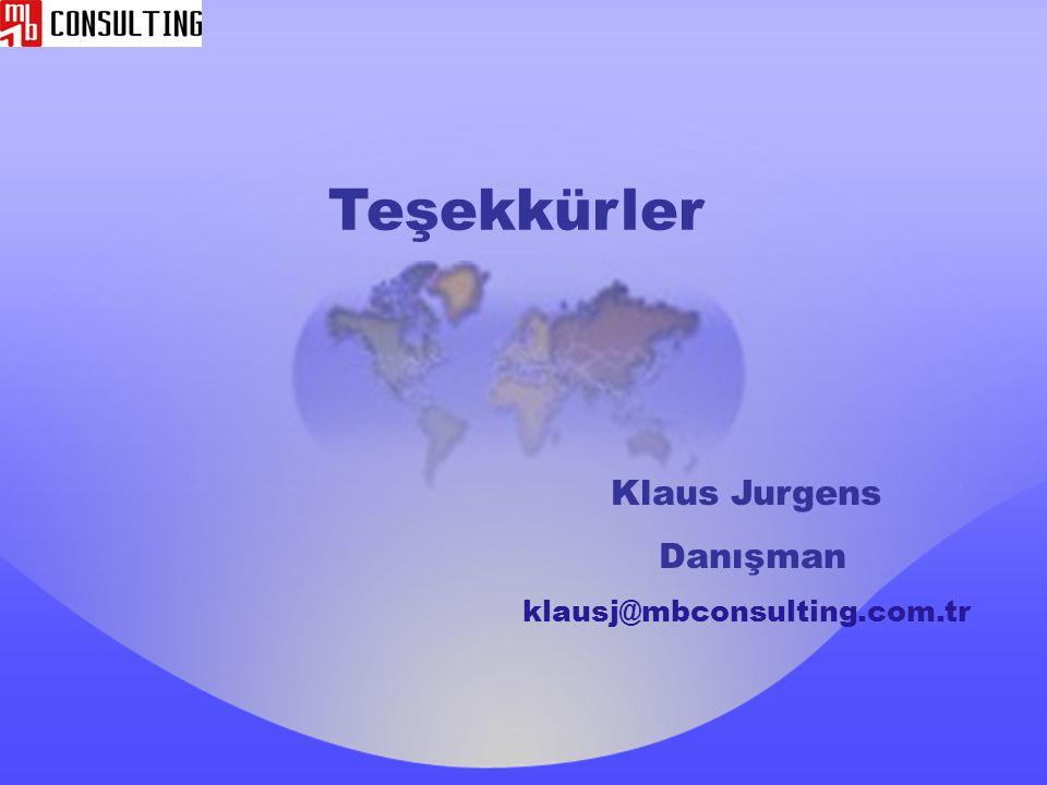 Teşekkürler Klaus Jurgens Danışman klausj@mbconsulting.com.tr