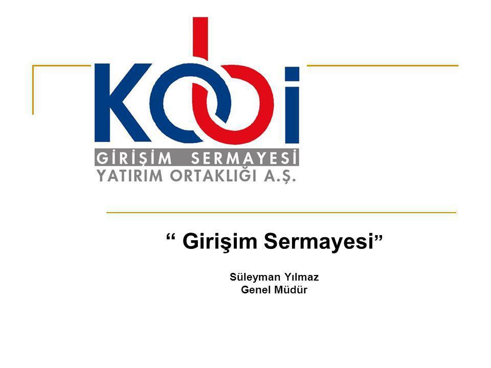 """"""" Girişim Sermayesi """" Süleyman Yılmaz Genel Müdür"""