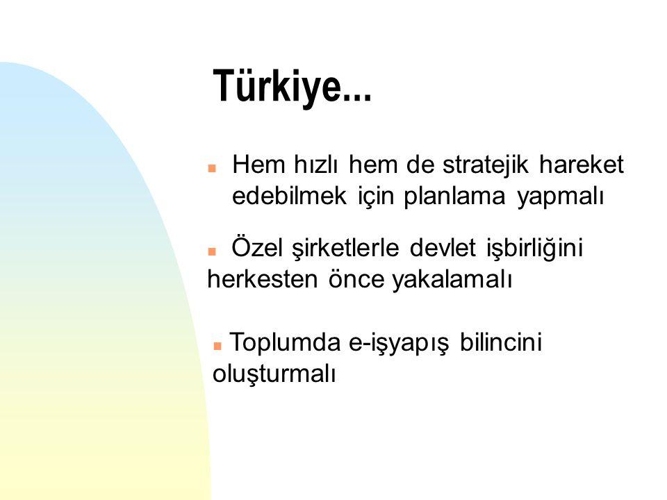 n Hem hızlı hem de stratejik hareket edebilmek için planlama yapmalı Türkiye... n Özel şirketlerle devlet işbirliğini herkesten önce yakalamalı n Topl