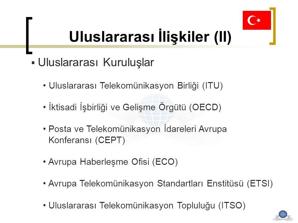 Uluslararası İlişkiler (II)  Uluslararası Kuruluşlar Uluslararası Telekomünikasyon Birliği (ITU) İktisadi İşbirliği ve Gelişme Örgütü (OECD) Posta ve