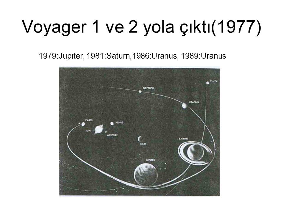 Voyager 1 ve 2 yola çıktı(1977) 1979:Jupiter, 1981:Saturn,1986:Uranus, 1989:Uranus