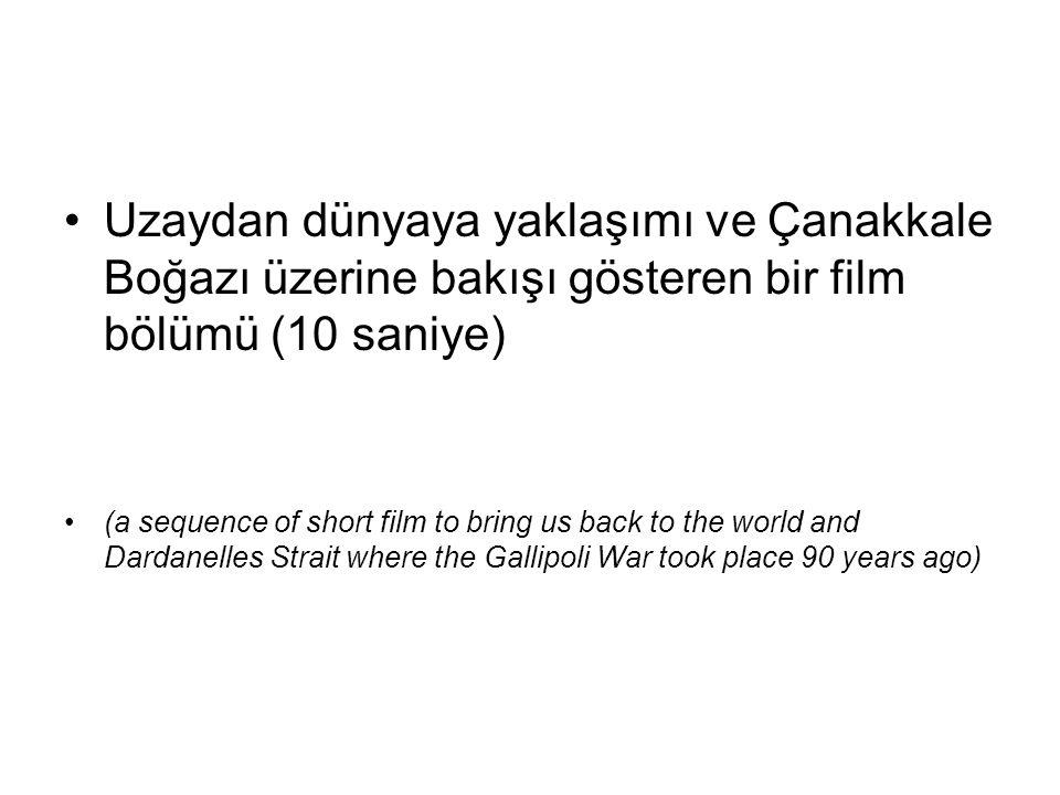 Zaman zaman global ve uzaktan bakabilmeliyiz olaylara (we need a distant and global look at the events, from time to time) Mustafa Kemal Atatürk gibi: (1934 konuşması) Bu topraklarda yaşamını yitiren kahramanlar Artık dost bir vatanın toprağındasınız; Rahat uyuyunuz; Analar; göz yaşlarınızı dindiriniz; oğullarınız bizim de oğullarımız olmuşlardır… Like M.K.Ataturk (his 1934 speech) Those heroes who have lost their lives in these soils: you are now in a friendly country; rest in peace… Mothers, wipe out your tears; your sons have become our sons…'