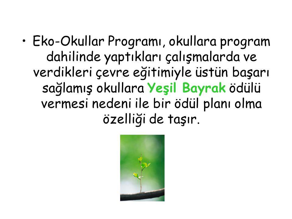 Yeşil Bayrak, uluslararası düzeyde tanınan ve saygınlığı olan, çevreye duyarlı okulu simgeleyen bir eko-etikettir.