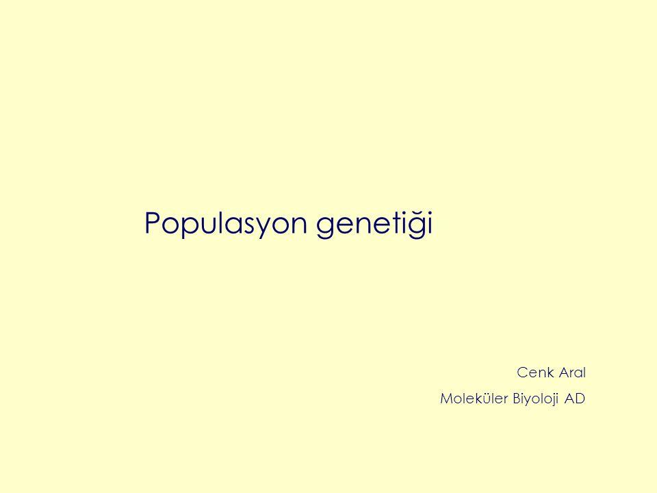 Populasyon genetiği Cenk Aral Moleküler Biyoloji AD