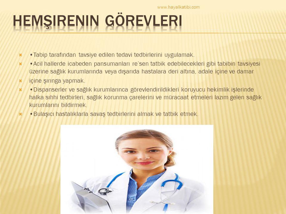  Tabip tarafından tavsiye edilen tedavi tedbirlerini uygulamak.