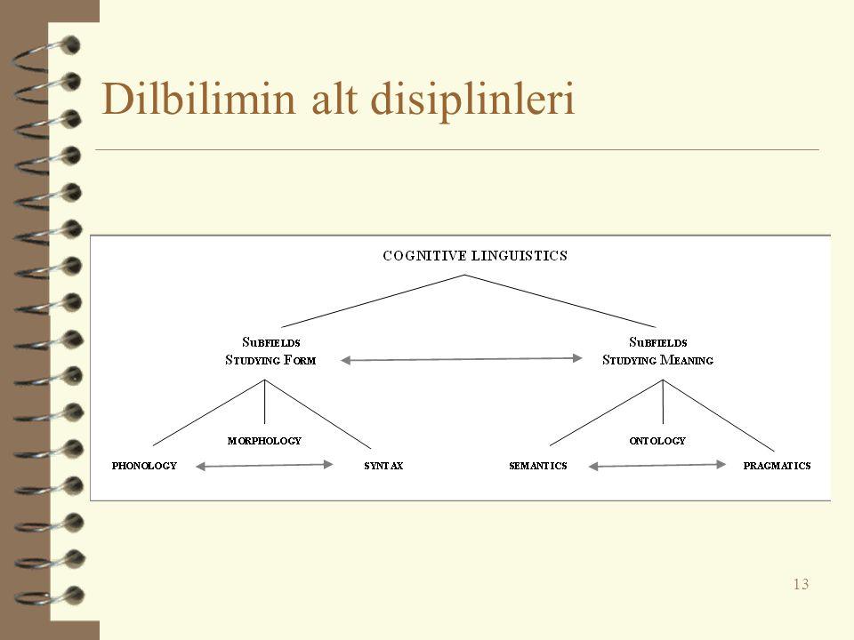 Dilbilimin alt disiplinleri 13