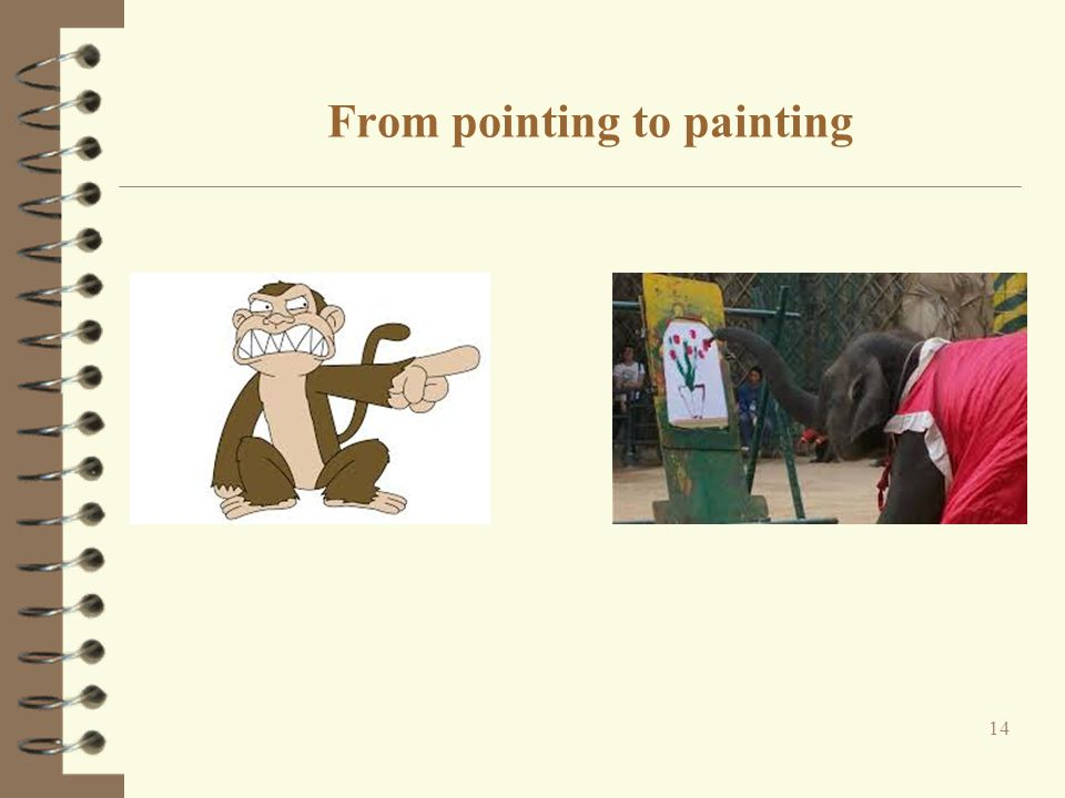 From pointing to painting 14