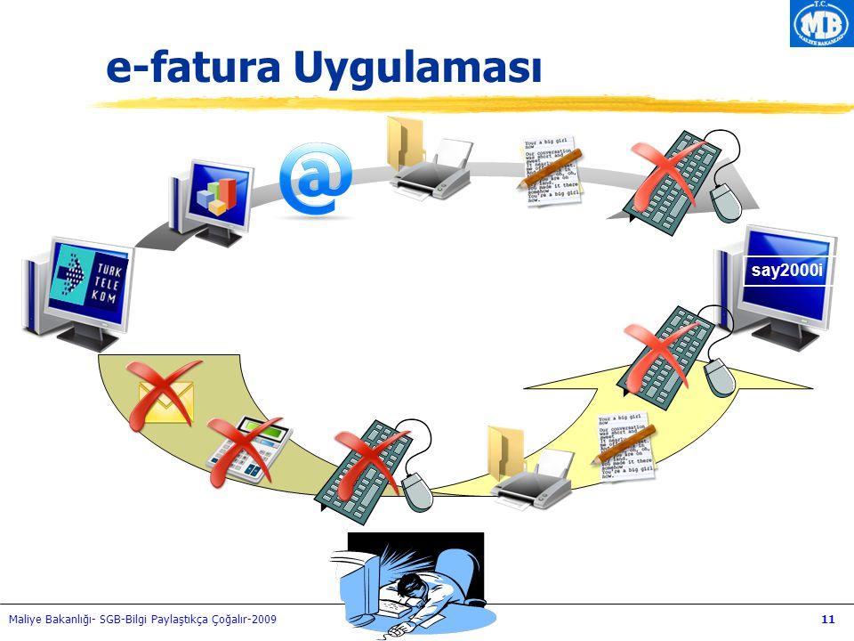 Maliye Bakanlığı- SGB-Bilgi Paylaştıkça Çoğalır-200911 e-fatura Uygulaması say2000i