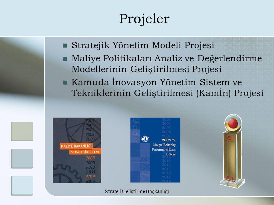 Strateji Geliştirme Başkanlığı Projeler Stratejik Yönetim Modeli Projesi Maliye Politikaları Analiz ve Değerlendirme Modellerinin Geliştirilmesi Proje