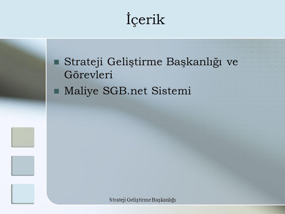 İçerik Strateji Geliştirme Başkanlığı ve Görevleri Maliye SGB.net Sistemi