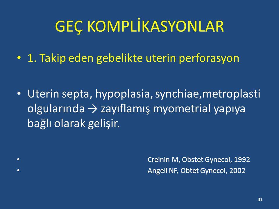 GEÇ KOMPLİKASYONLAR 1.