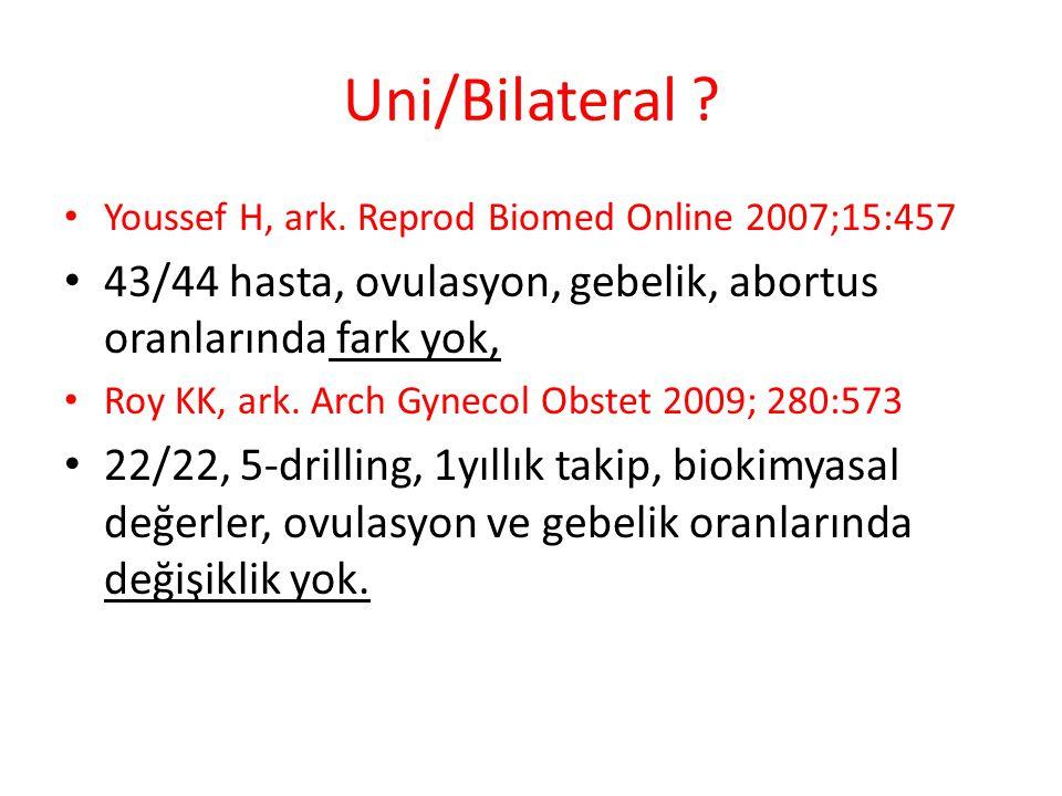 Uni/Bilateral .Youssef H, ark.