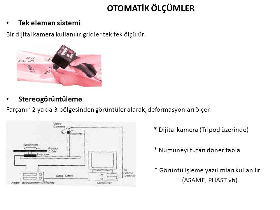 OTOMATİK ÖLÇÜMLER Tek eleman sistemi Bir dijital kamera kullanılır, gridler tek tek ölçülür.