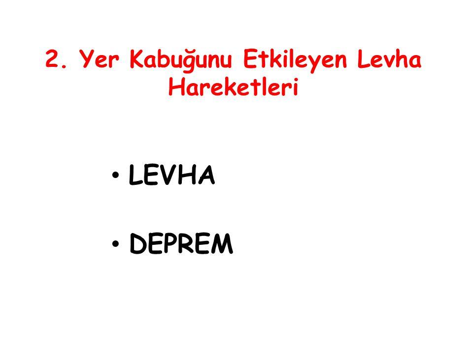 2. Yer Kabuğunu Etkileyen Levha Hareketleri LEVHA DEPREM