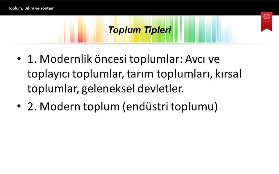 Toplum Tipleri 1.