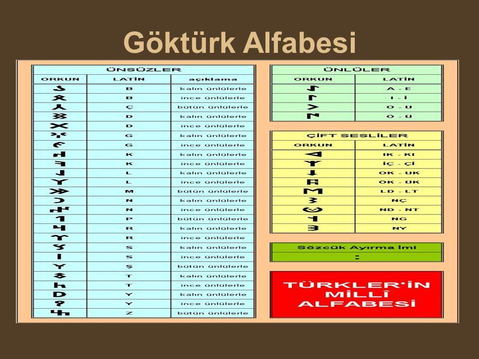 Uygur Alfabesi 18 harflidir.Üçü sesli, on beşi sessizdir.Türklerin ikinci milli alfabeleridir.