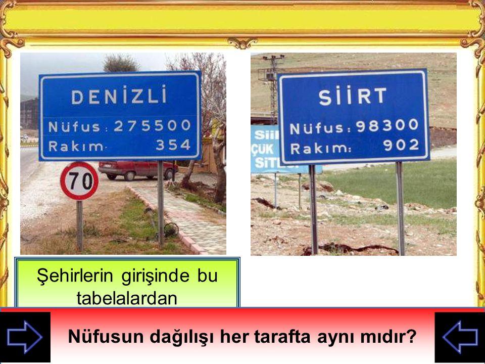 Kazanım 1.Görsel materyaller ve verilerden yararlanarak Türkiye de nüfusun dağılışının neden ve sonuçlarını tartışır.