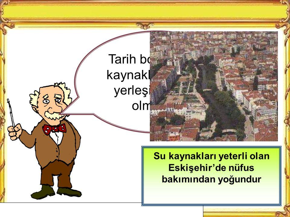 Su kaynakları az olan yerlerde nüfus azdır Yağışların az olduğu Nevşehir'de su kaynakları azdır.