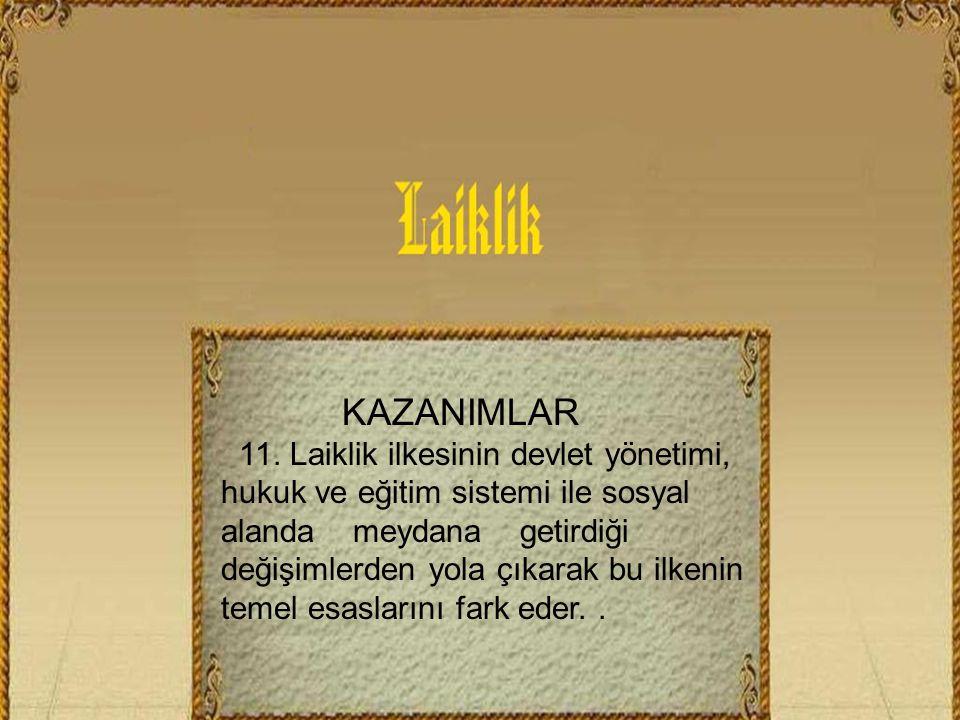 KAZANIMLAR 11.