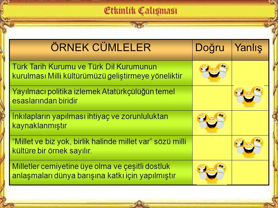 Modern Türkiye'nin oluşturulması için siyasal, ekonomik, toplumsal, eğitim ve kültür alanlarında …………………….. yapılmıştır Atatürk ilkelerine göre egemen