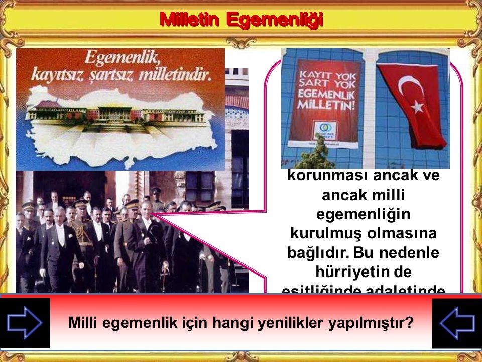 Yurdumuzun işgal edilmesi üzerine M. Kemal Anadolu'ya geçerek kurtuluş savaşını başlatmıştır. Halkın milli mücadeleye desteği ile yurt düşmanlardan te