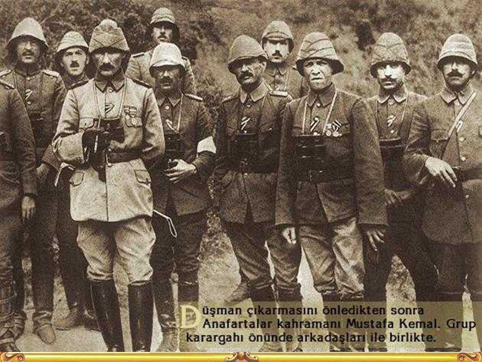 M. Kemal hangi tümende görevliydi. Haritadan yerini gösteriniz? Savaşın geçtiği yerlerin isimlerini söyleyiniz? Arıburnu, Anafartalar, Conkbayırı gibi