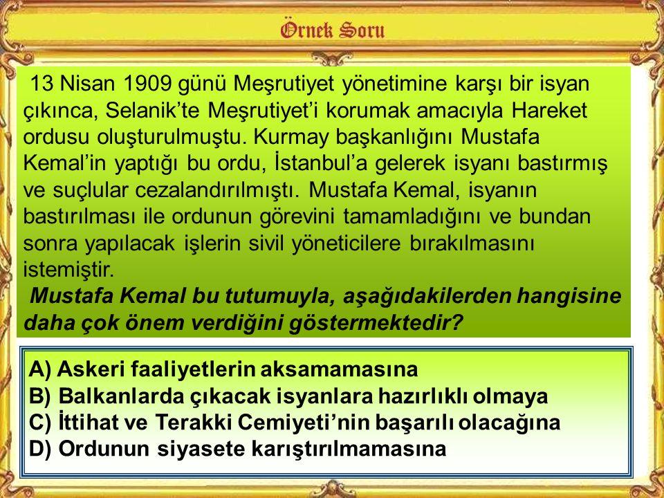 Çanakkale Savaşı'nda denizlerde başarılı olamayan düşman kuvvetleri, amaçlarına karadan ulaşmak istiyordu. Mustafa Kemal, düşmanın Conkbayırı hattını