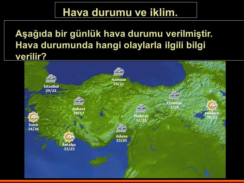 Yeryüzünde Yaşam Konu: Dört Mevsim Kazanım:3 Haritalardan ve görsel materyallerden yayarlanarak Türkiye'de görülen iklim tiplerinin dağılışında Coğraf
