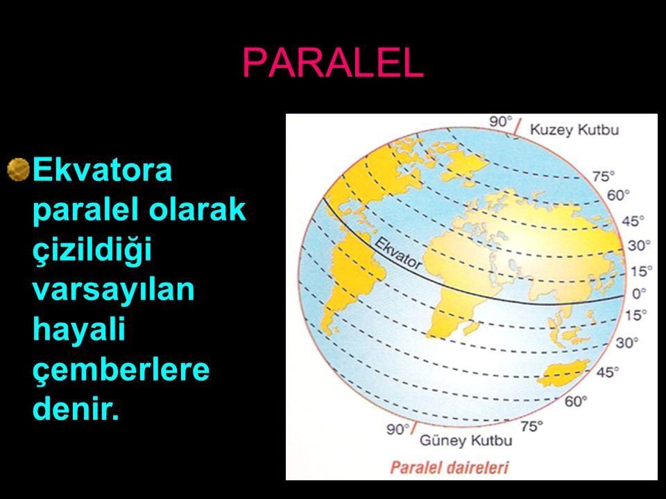 Ekvator Kutup noktalarından eşit uzaklıkta olan ve yer yuvarlağını iki eşit yarım küreye ayıran dairedir.Derecesi 0 (sıfır) dır.