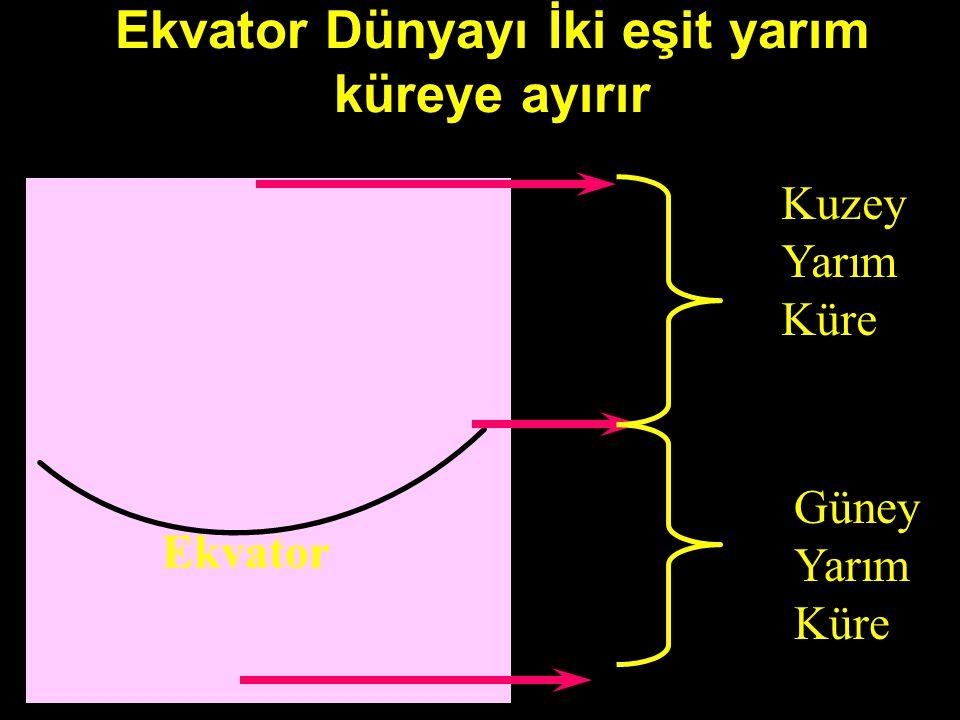 EKVATOR Başlangıç Paraleli Ekvatordur