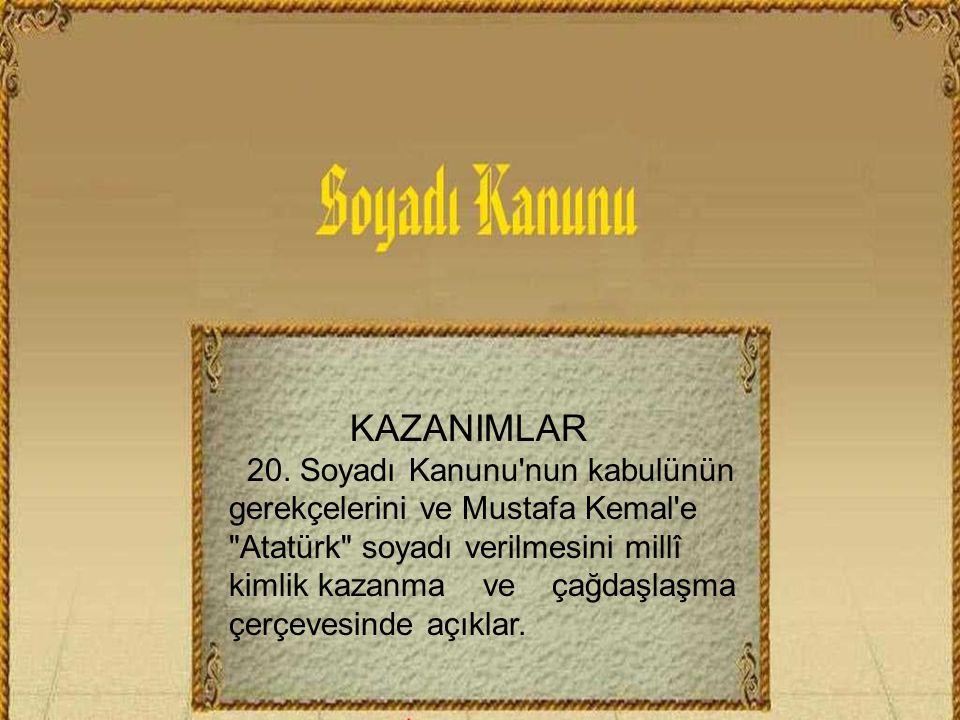 KAZANIMLAR 20.