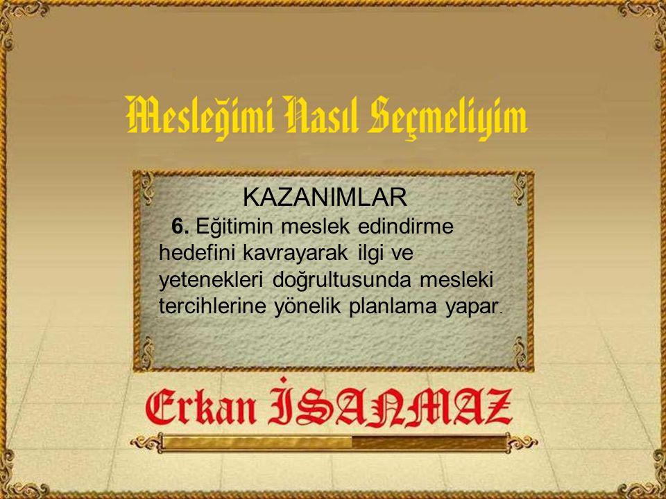 KAZANIMLAR 6.