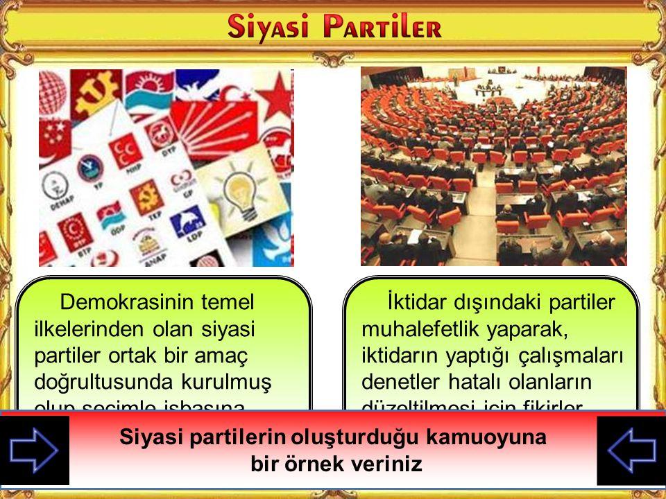 Kamuoyu Siyasi Partiler Sivil Toplum Örgütleri Sivil Toplum Örgütleri Medya