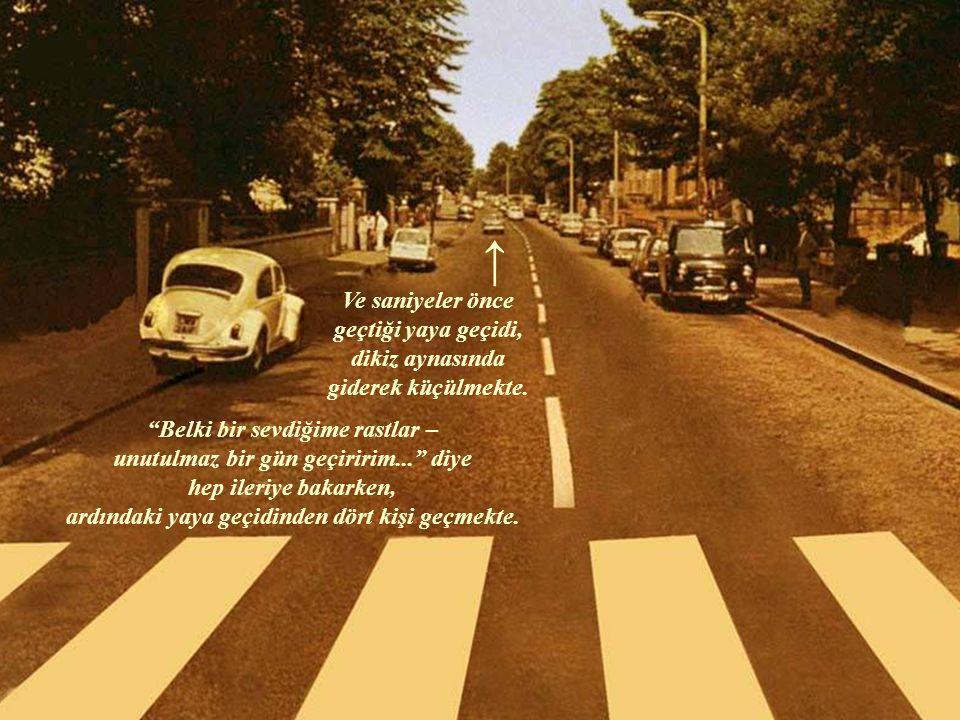 """8 Ağustos 1969; Londra. Sürücüsü belki 68 ruhuyla: """"keşke özgürce bir araya gelinebilse"""" diye düşünmekte; belki bir yandan işine, belki de bir Beatles"""