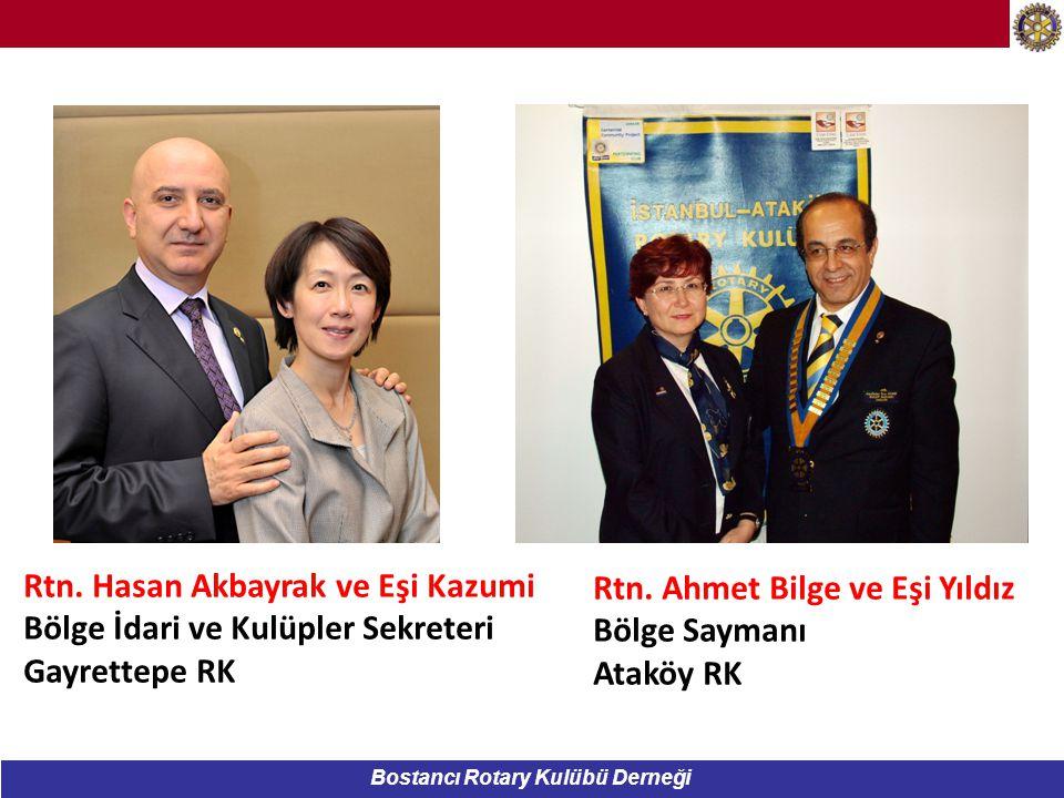 Bostancı Rotary Kulübü Derneği Rtn.Bora ERGENE ve eşi Nesrin 2014-2015 Dönemi 2.