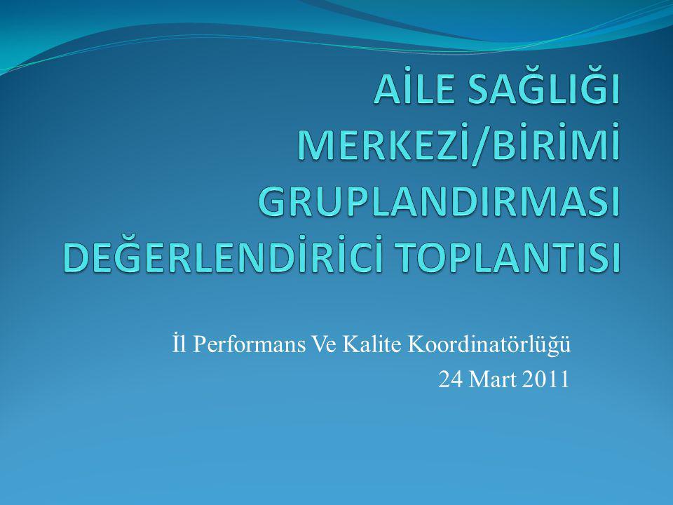 İl Performans Ve Kalite Koordinatörlüğü 24 Mart 2011