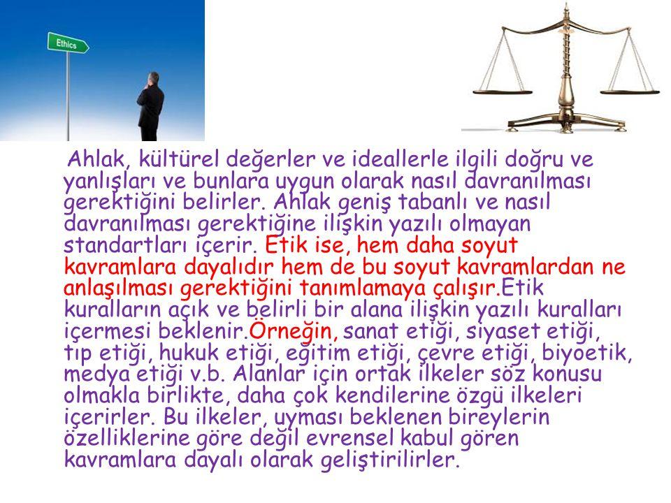 Günlük hayatta ve kamu hizmetinin sunumu esnasında karşılaşacağınız ahlaki belirsizliklerde Vicdanınız kılavuzunuz olsun… TEŞEKKÜRLER…