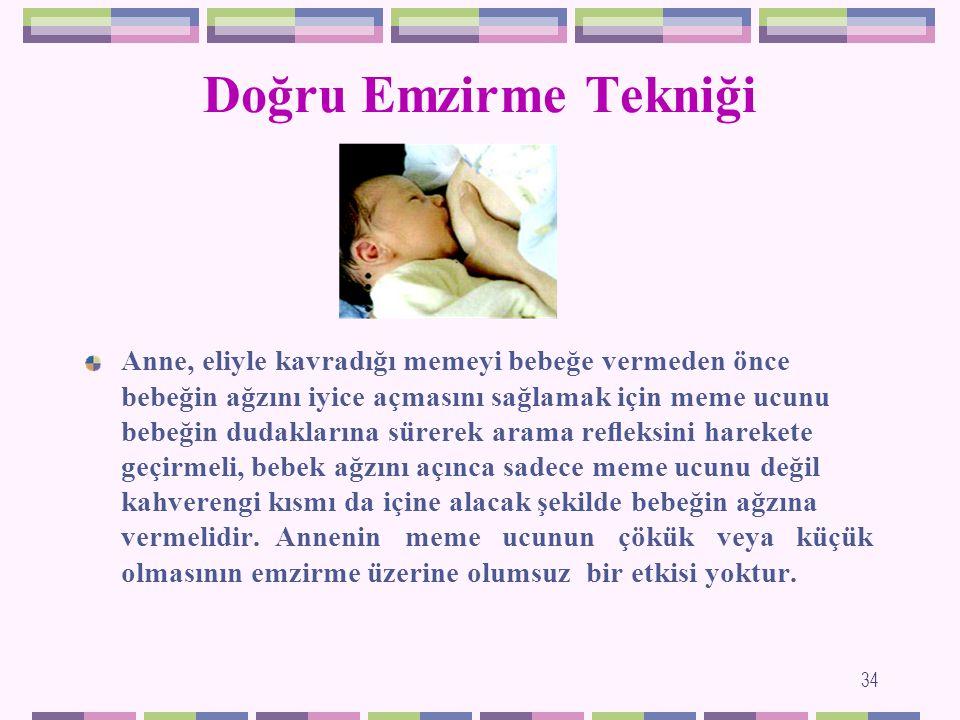 Doğru Emzirme Tekniği Anne sütü ile beslenmede annenin bilmesi gereken en önemli nokta, bebeğini memeye nasıl yerleştirdiğidir.