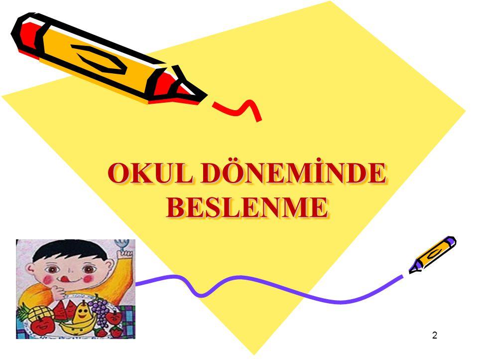 OKUL DÖNEMİNDE BESLENME 2
