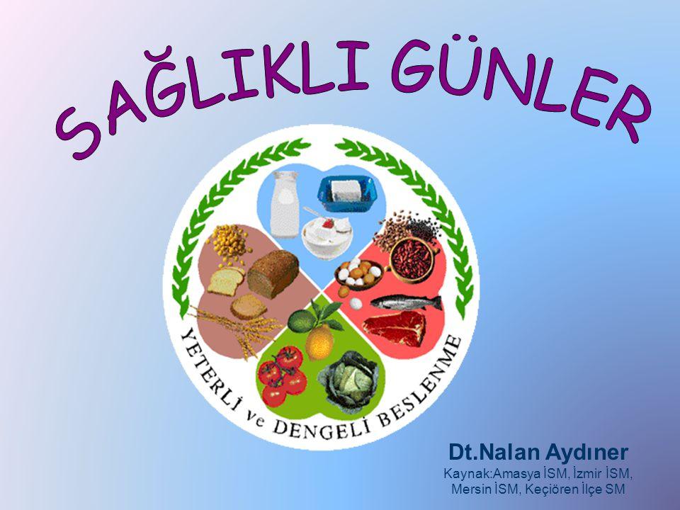 Dt.Nalan Aydıner Kaynak:Amasya İSM, İzmir İSM, Mersin İSM, Keçiören İlçe SM