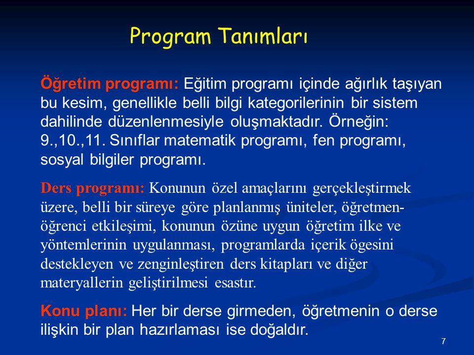 18 3) Açık-Seçiklik: Örnek: - Biyoloji Dersinde sürüngenlerin sindirim sistemi bilgisi -Problem Çözme ile ilgili süreçler bilgisi (Yanlış).