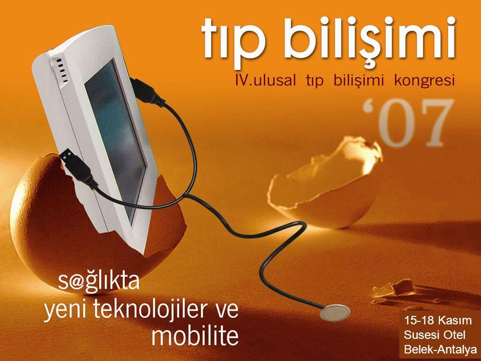 07.09.2014Osman SAKA Gazi Üniversitesi - Ankara 32 15-18 Kasım Susesi Otel Belek-Antalya