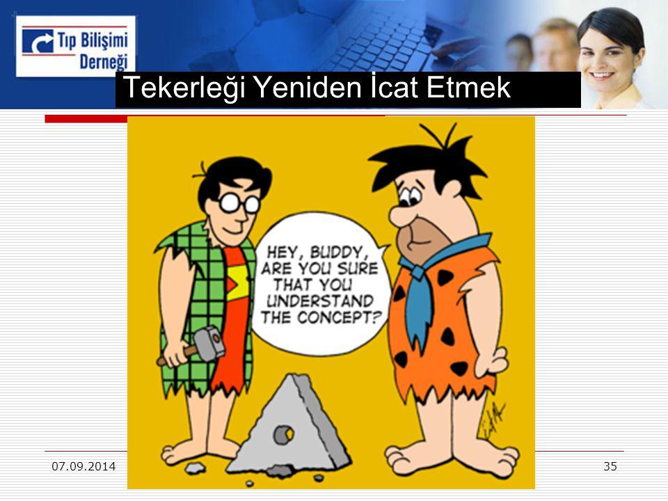 Tekerleği Yeniden İcat Etmek 07.09.2014Osman SAKA Gazi Üniversitesi - Ankara 35