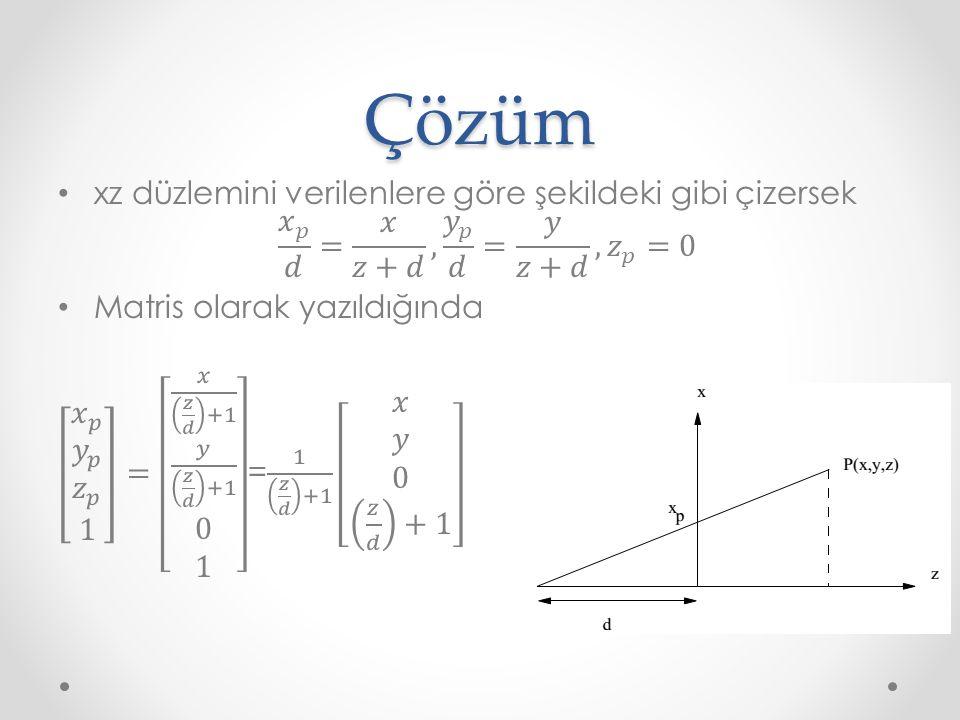 İlk olarak I 1, I 2, ve I 3 noktalarındaki aydınlanma miktarı bulunur. p45 2 1 3Çözüm