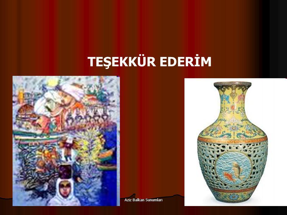 Aziz Balkan Sunumları 112 TEŞEKKÜR EDERİM